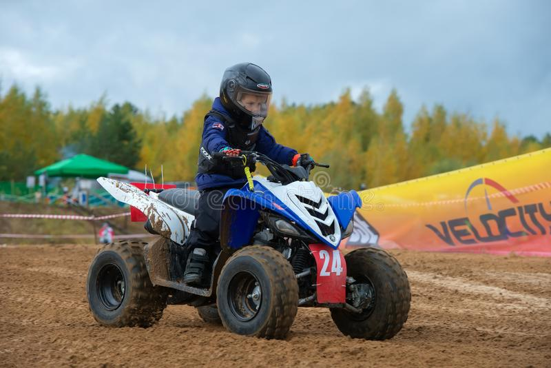 The youngest sportsman royalty free stock images