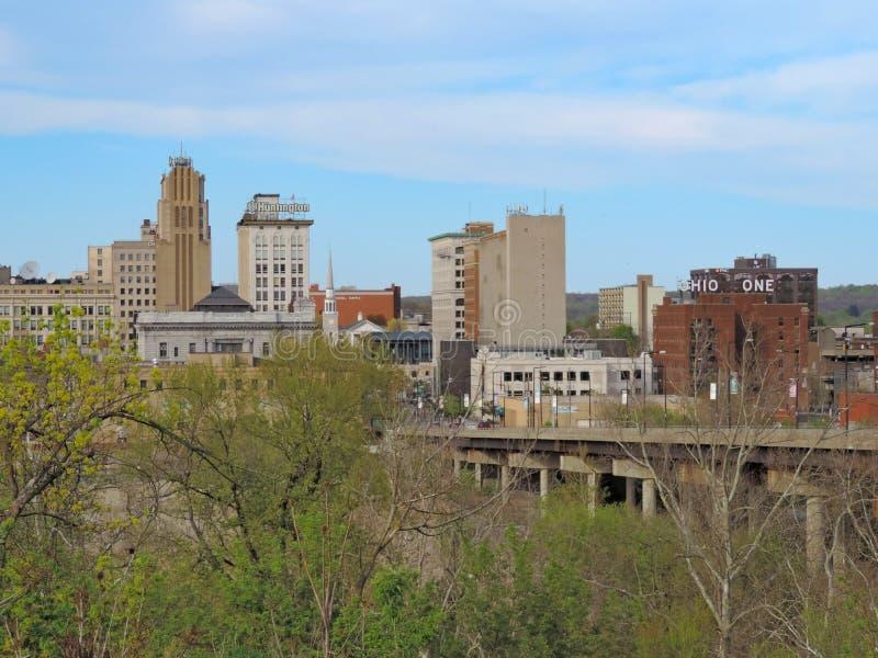 Youngstown do centro Ohio durante a mola imagem de stock