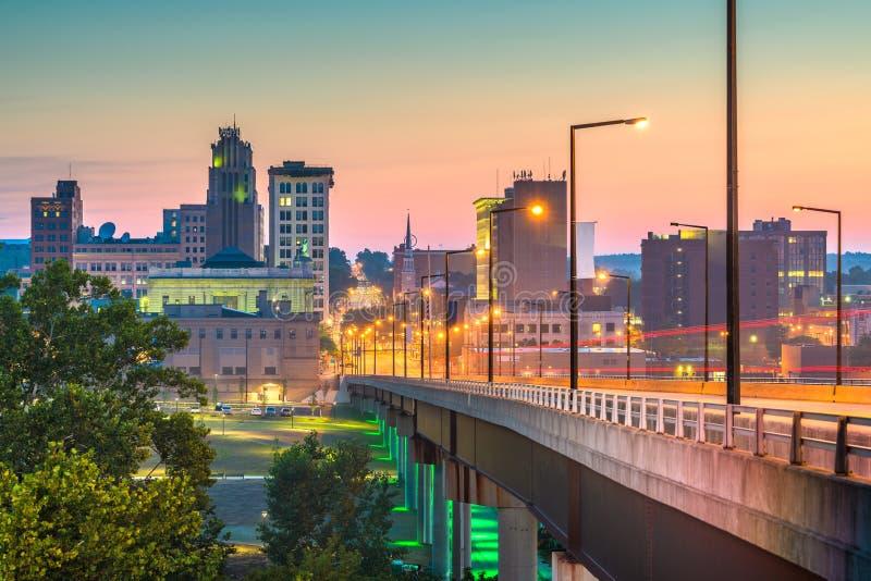 Youngstown, Ohio, USA Town Skyline stockbilder