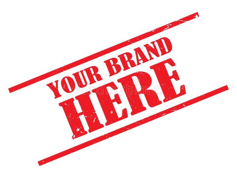 Your brand here stamp stock illustration