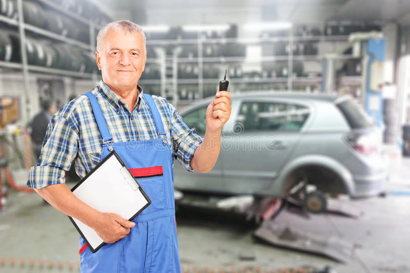 Download Your car is ready stock photo. Image of posing, inside - 28208206