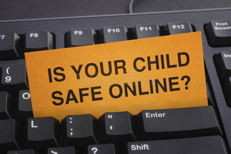 Is your child safe online? stock image