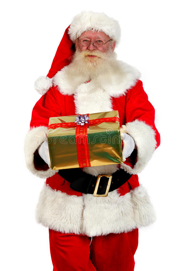 Your christmas present from santa stock photography