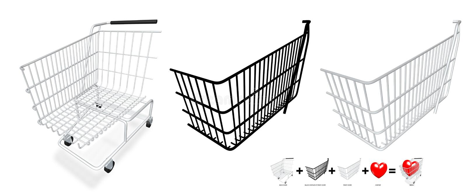 Download Your content in a cart stock illustration. Image of consumption - 699920