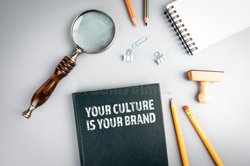 Your Culture Is Your Brand. Knowledge, skills and marketing concept royalty free stock photography