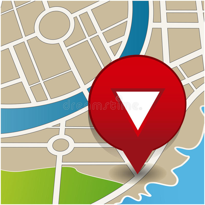Your current location. Pointer vector vector illustration