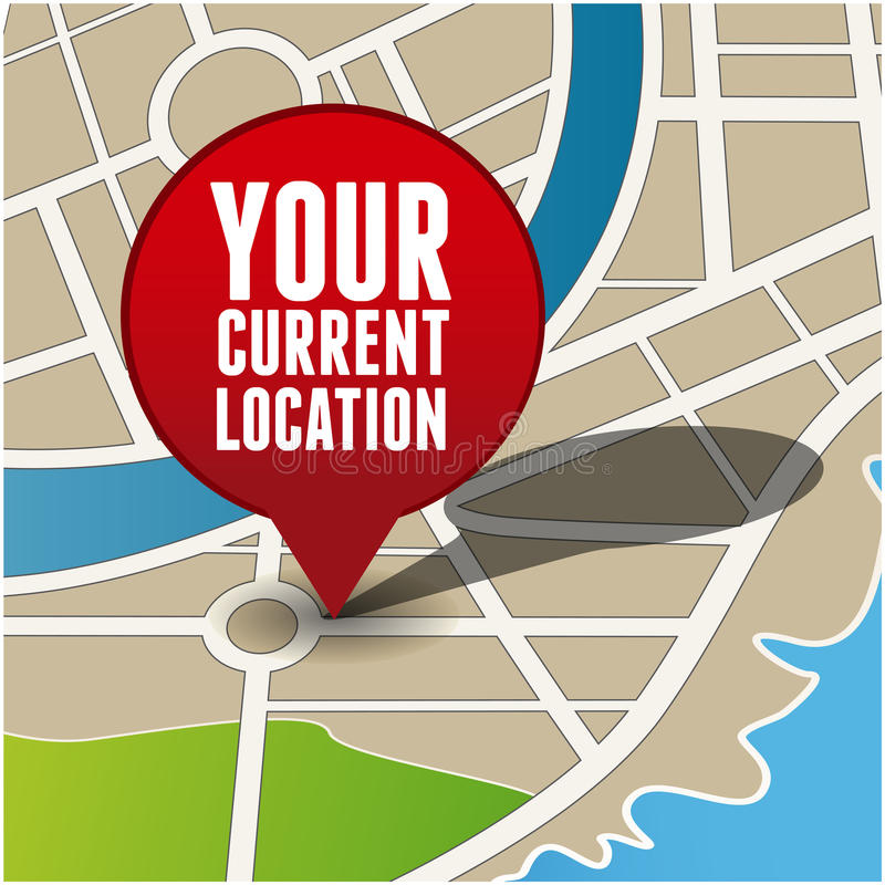 Your Current Location Royalty Free Stock Photography