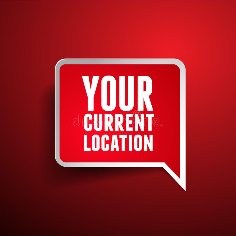 Your current location pointer. Isolated stock illustration