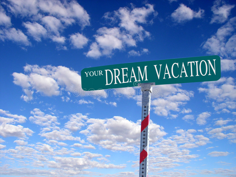 Your Dream Vacation royalty free stock photos