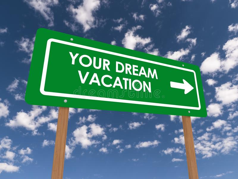 Your dream vacation stock photo