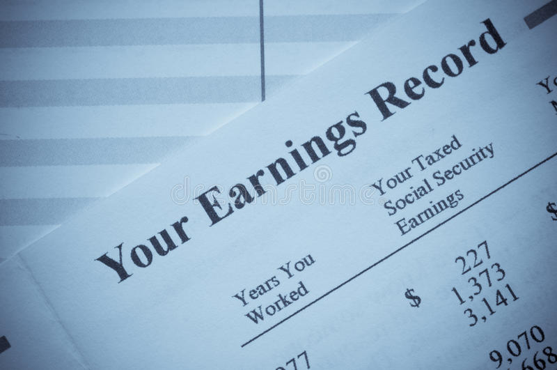 Your Earnings Record royalty free stock images
