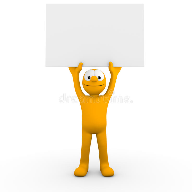 Download Your empty board stock illustration. Image of person - 22537432