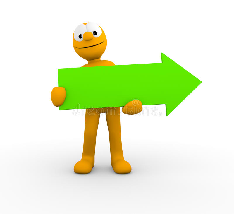 Download Your empty green arrow stock illustration. Image of board - 22683543