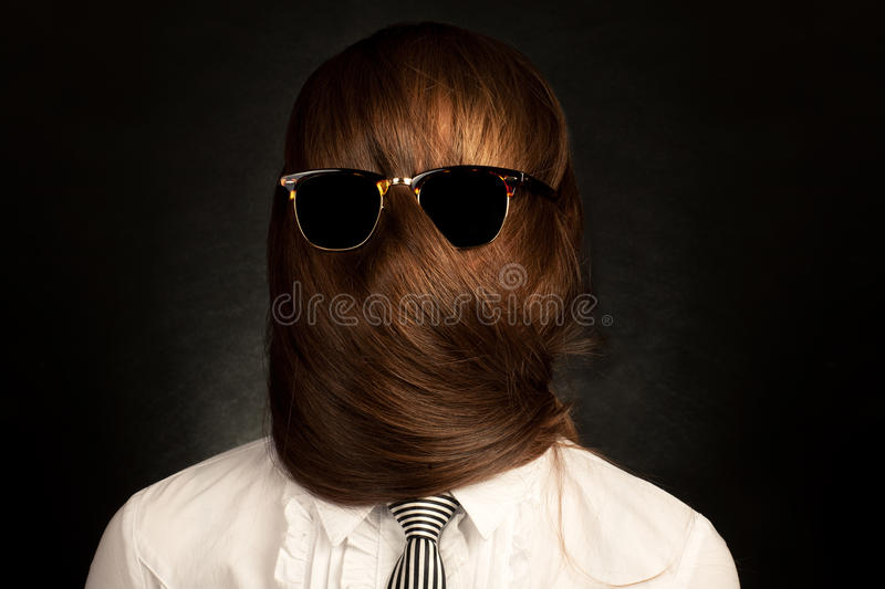 Your Face Is Your Hair Stock Photo