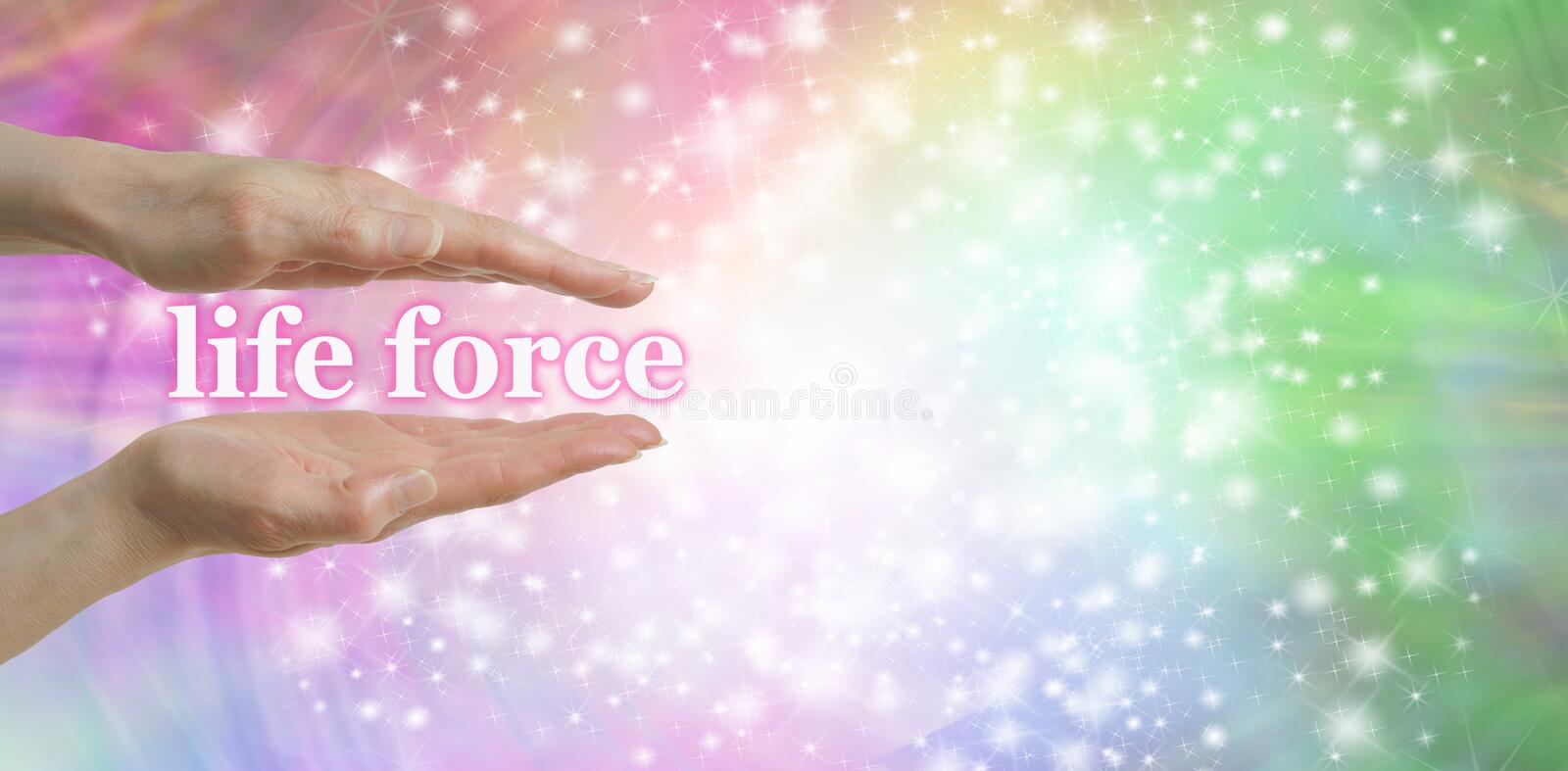 Your Life Force is in Your Hands royalty free stock photo