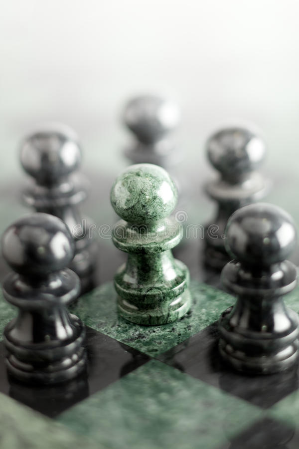 Your life is your decision. A composition made of pawn on the marble chess board stock photo
