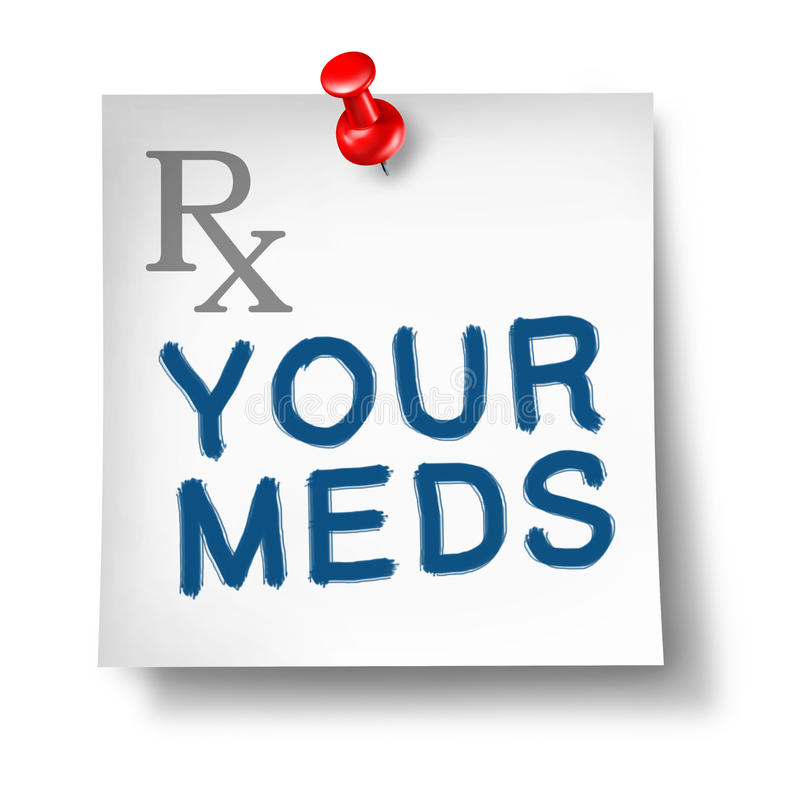 Free Your Meds Reminder Isolated Stock Photo - 19744770