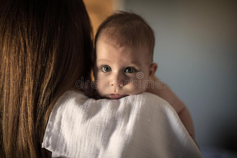 Your mother`s shoulder will always be there for you royalty free stock image