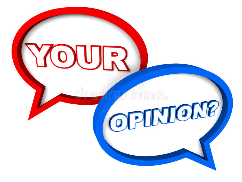 Your opinion stock illustration