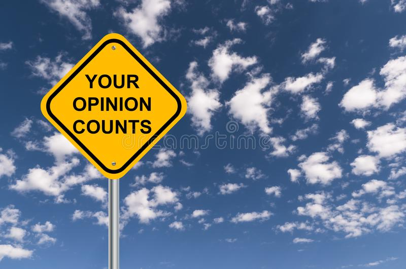 Your opinion counts. Traffic sign royalty free illustration