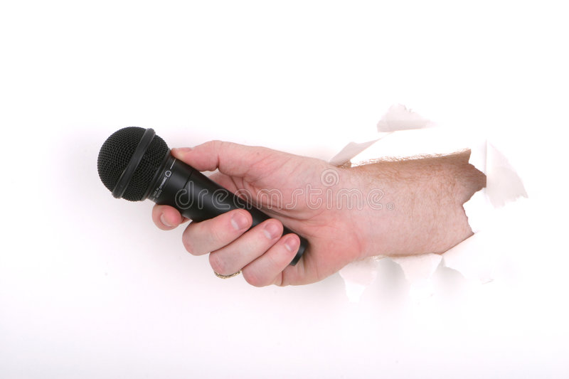 Download Your Opinions? stock photo. Image of hand, karaoke, microphone - 70034