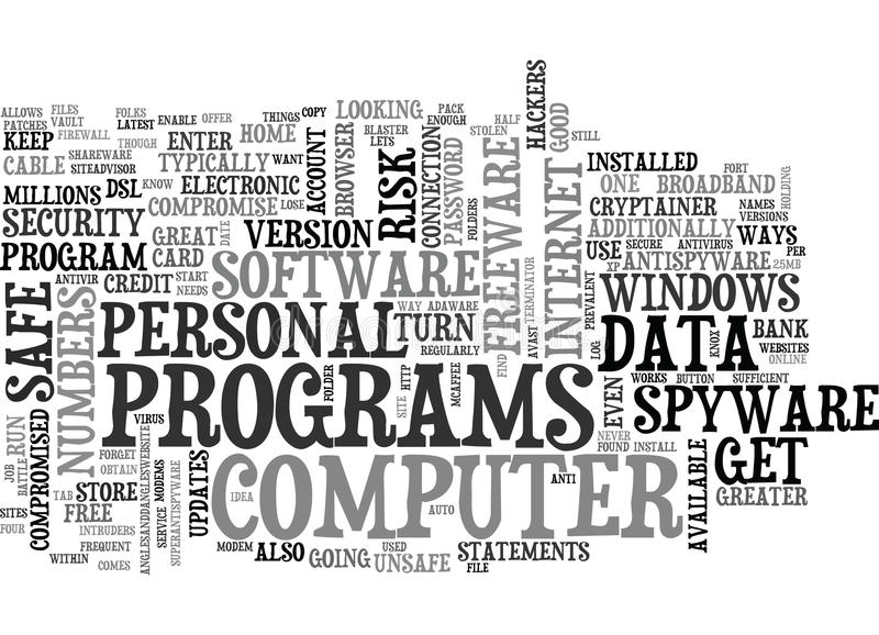 Is Your Personal Data Safe Text Background Word Cloud Concept royalty free illustration