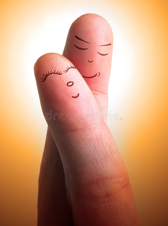 By your side. Finger crossing with face gestures