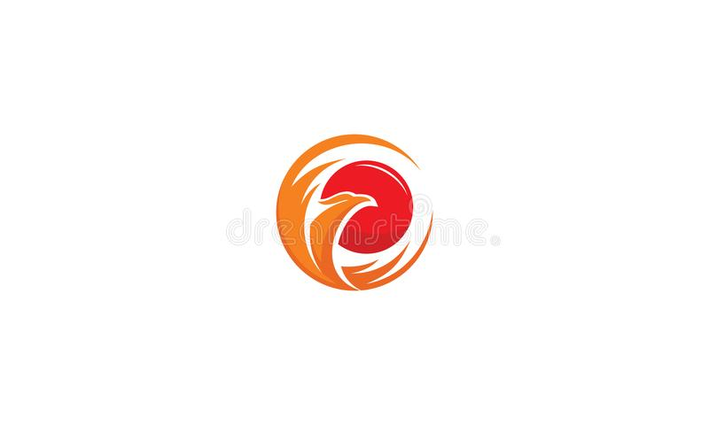 Phoenix fire logo vector icon royalty free illustration