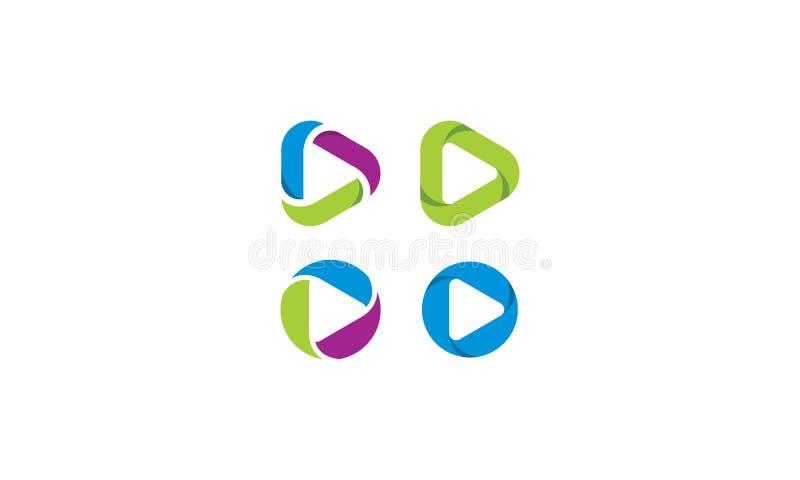 The play button icon vector logo vector illustration