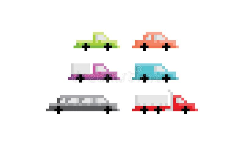 Pixel Art Car Truck Logo Icon Vector Stock Vector