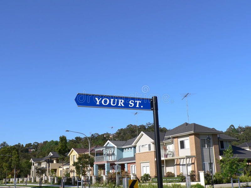Your Street Sign stock photos
