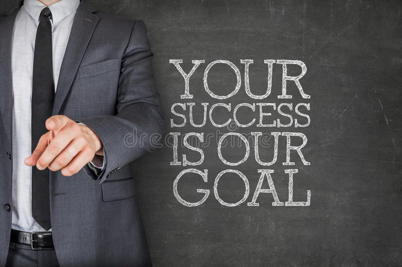 Your success is our goal on blackboard royalty free stock photo