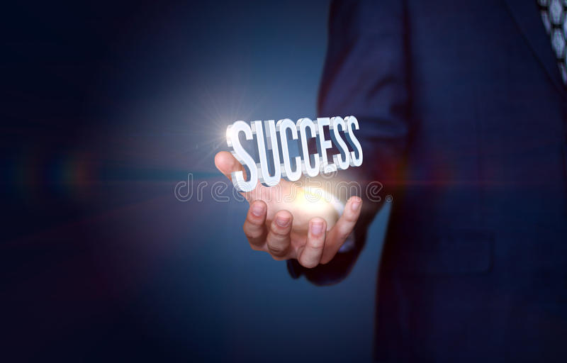 Your success is in your hands. royalty free stock images