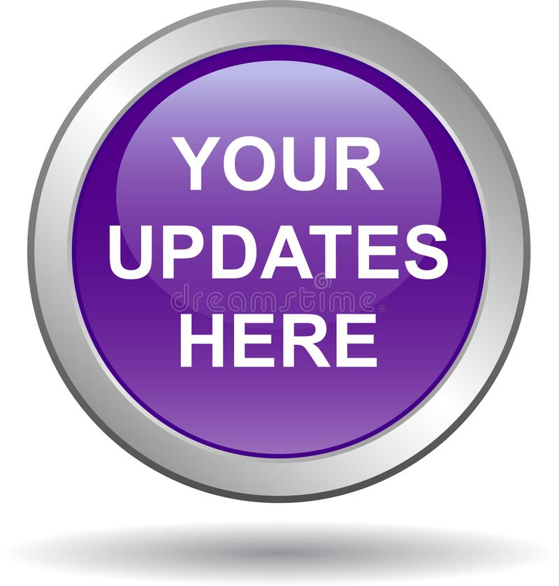 Your updates here web button royalty free illustration