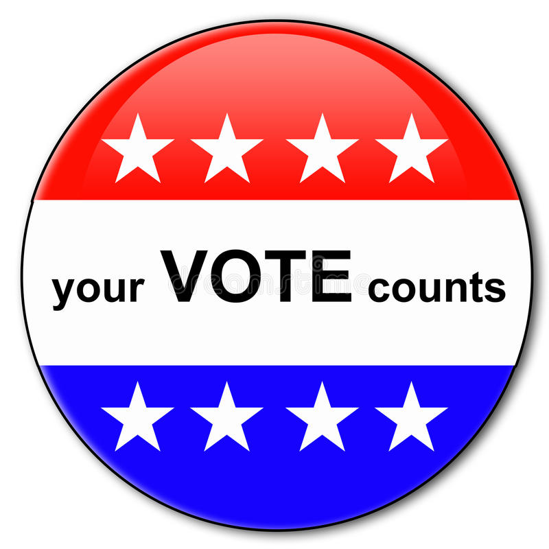 Your vote counts. During election time royalty free illustration