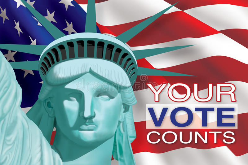 Your Vote Counts stock illustration