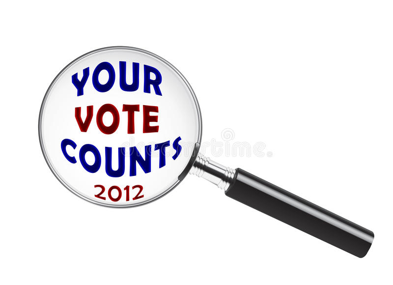 Download Your Vote Counts stock illustration. Image of poll, vote - 26921391