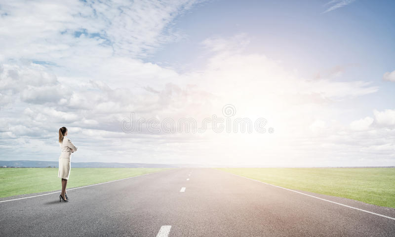 Your way to success stock image