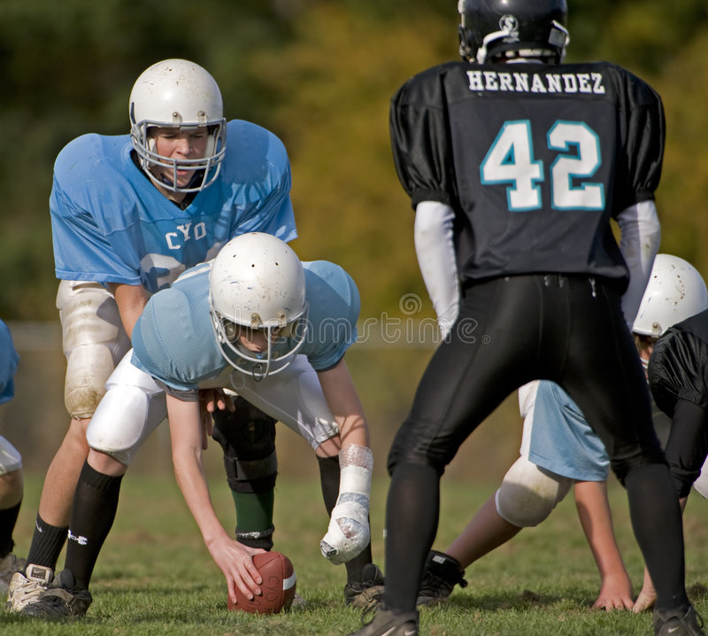 Youth American football royalty free stock photos