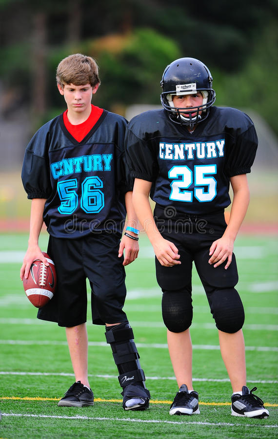 Youth American Football injured player royalty free stock photography