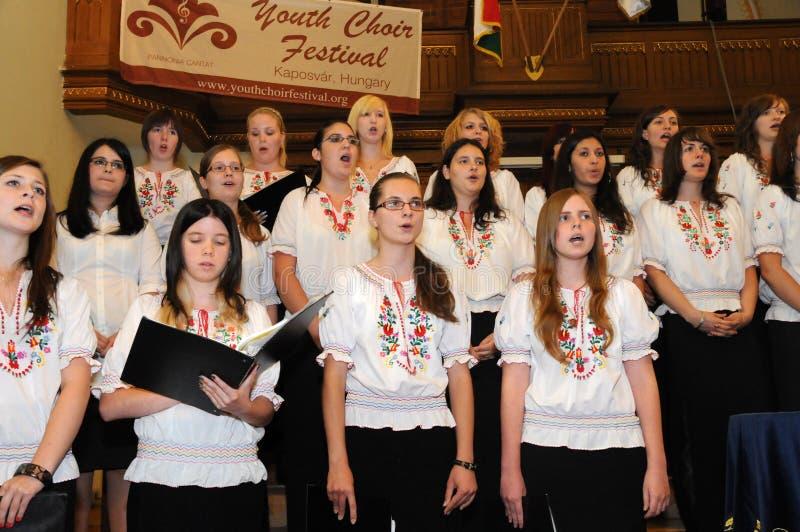 Youth choir festival stock photos