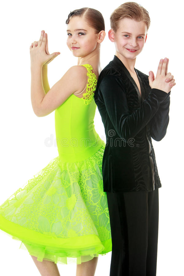 Youth dance couple stock image