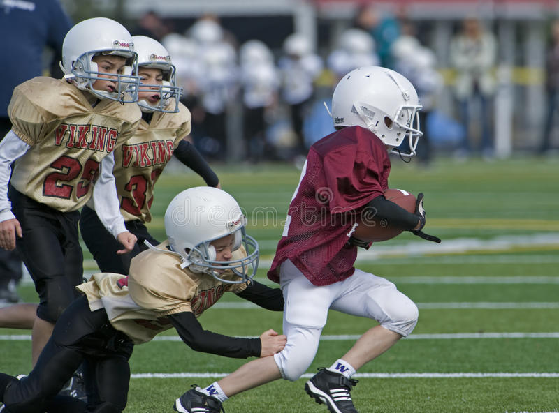 Youth Football 3/4 Grade Editorial Stock Image
