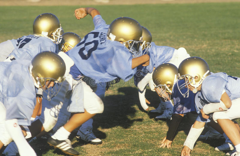 Youth football league stock images