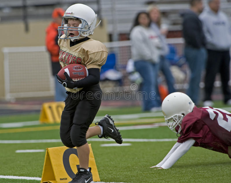 Youth Football Touch down royalty free stock image