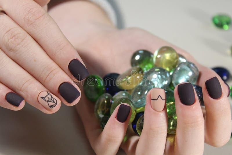 Youth manicure design stock image