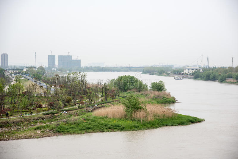 The Youth Olympic Forest Park and The Yangtze River royalty free stock image
