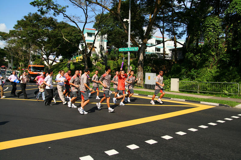 Download Youth Olympic Games 2010 Torch Relay Editorial Photo - Image: 15562221