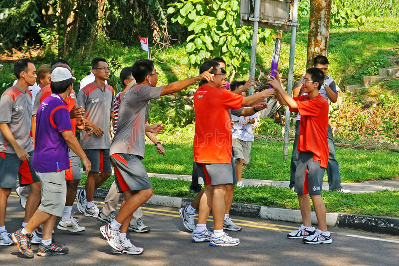 Download Youth Olympic Games 2010 Torch Relay Editorial Photography - Image: 15562227
