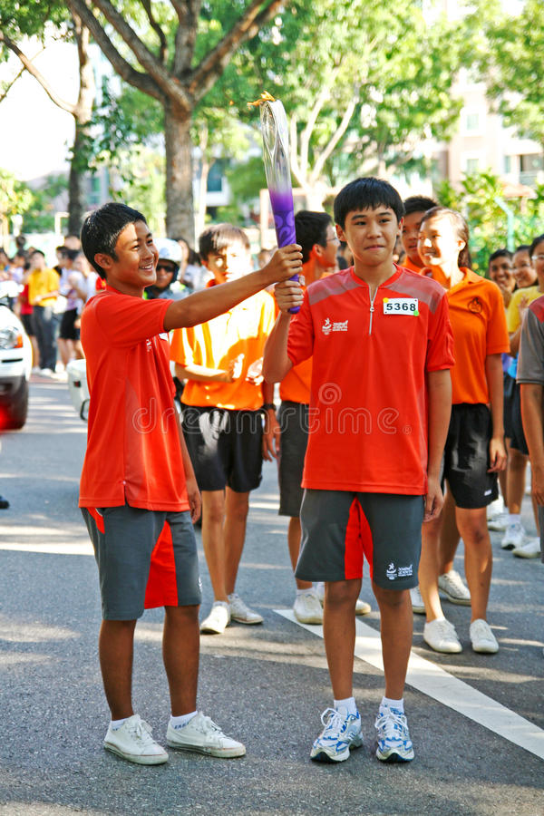Download Youth Olympic Games 2010 Torch Relay Editorial Photography - Image: 15563397